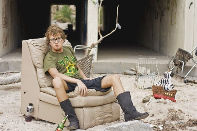 Homeless on a couch