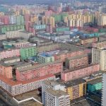 Blocks of flats in North Korea