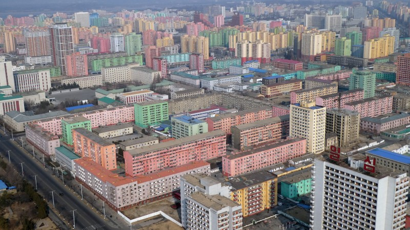 Blocks of flats in North Korea