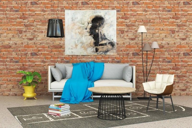 Artistic print art on the wall