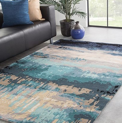 Area rug blue colors