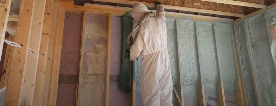 Spray foam application