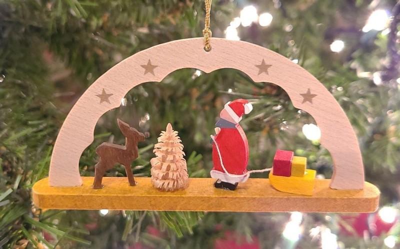 Schwibbogen Santa Claus German Hand Made